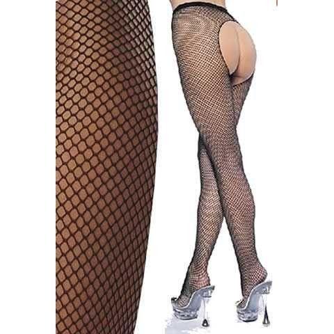 Fantazi Külotlu Çoraplar La Blinque Bayan Ağı Açık Külotlu Çorap 903 SİYAH
