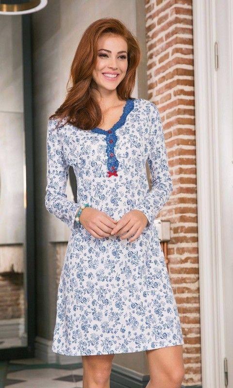 Bayan Pijama Takımı 2 Li Dantel İşlemeli Yeni İnci BPJ1194
