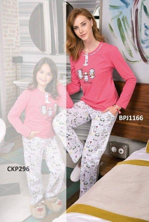 Bayan Pijama Takımı 2 Li Süprem Yeni İnci BPJ1166