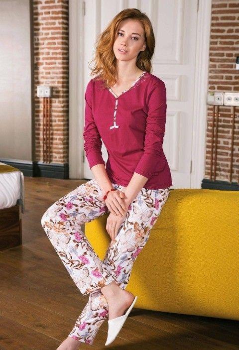 Bayan Pijama Takımı 2 Li Süprem Yeni İnci BPJ1184