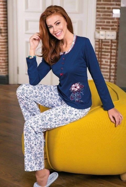 Bayan Pijama Takımı 2 Li Süprem Yeni İnci BPJ1196