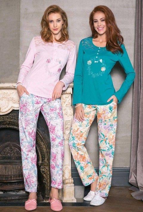 Bayan Pijama Takımı 2 Li Süprem Yeni İnci BPJ1210