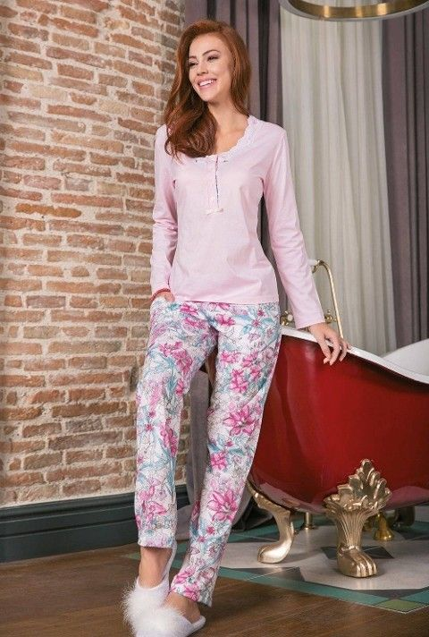 Bayan Pijama Takımı 2 Li Süprem Yeni İnci BPJ1212