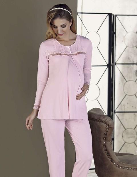 Bayan Pijama Takımı Lohusa İnterlok Artış 2212