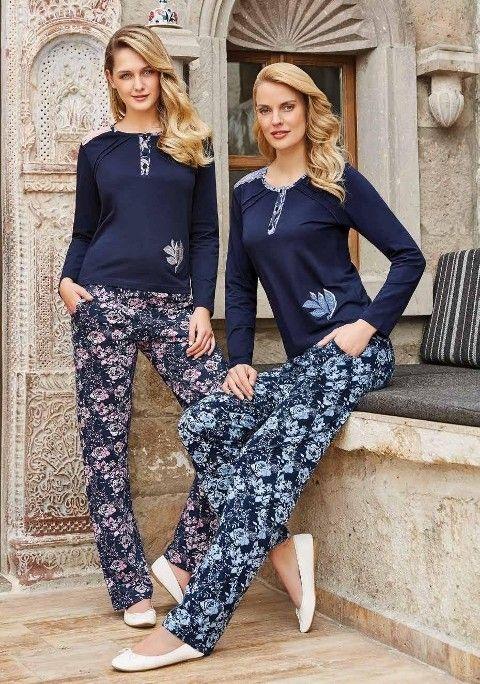 Bayan Pijama Takımı Uzun Kollu Berrak 382