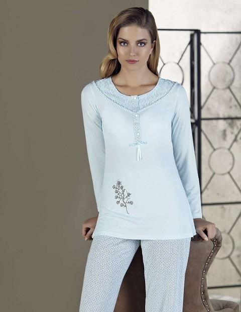 Bayan Pijama TakımıDantel İşlemeli Artış 2206