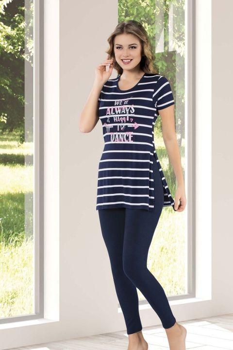 Tayt Pijama Takımları Bayan Taytlı Takım HMD 60084