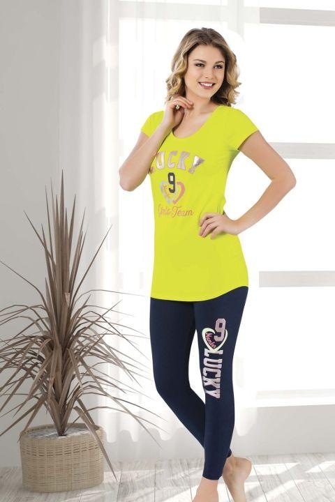 Tayt Pijama Takımları Bayan Taytlı Takım HMD 60089