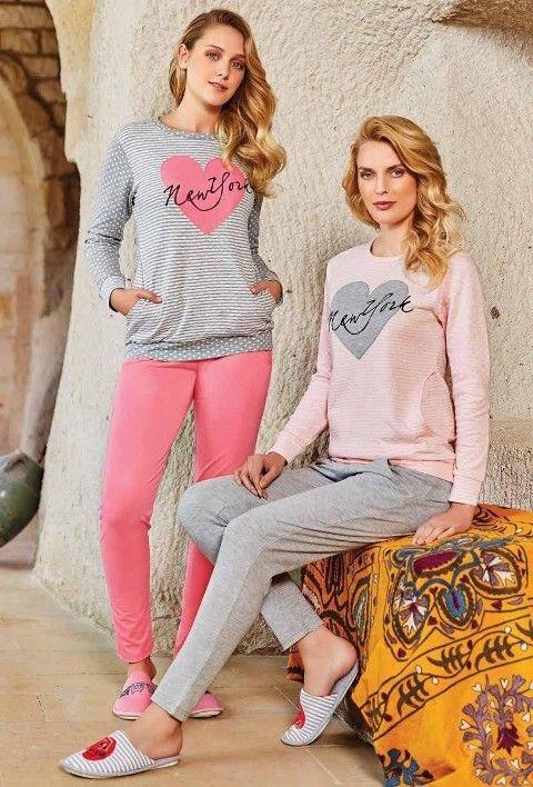 Bayan Uzun Kollu Pijama Takımı Berrak 377