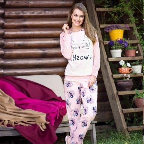 Bayan Uzunkol Pijama Takım Anıl 9465