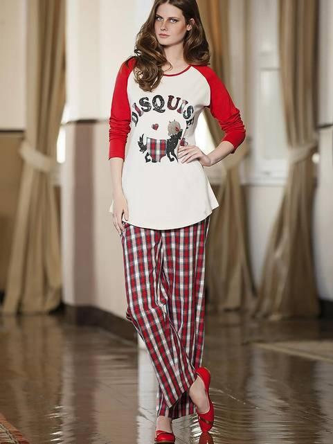 Berrak Bayan Pijama Takımı Bej