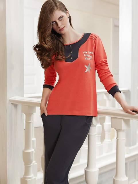 Berrak Bayan Pijama Takımı Oranj