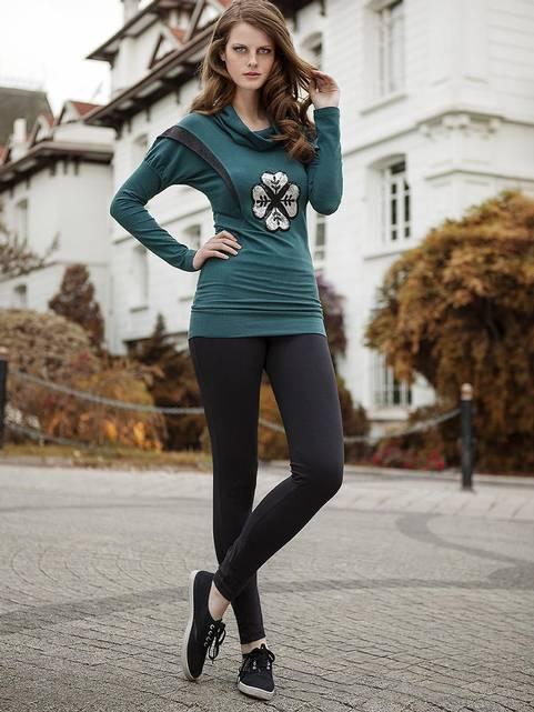 Berrak Bayan Tayt Takım Yeşil