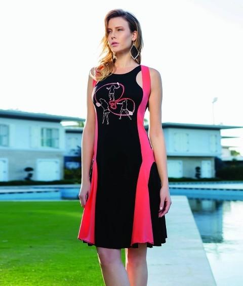 Berrak Bayan Tenis Baskılı Elbise 2740