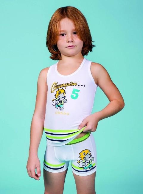 Berrak Erkek Çocuk Aslan Baskılı Atlet 1520