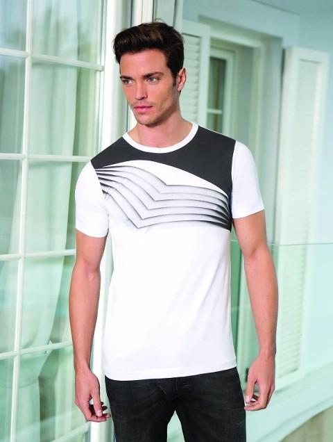 Berrak Erkek Geometri Çizgili Tshirt 4005