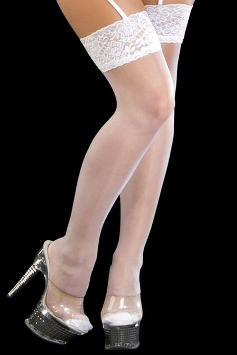 Fantazi Jartiyer Çorap La Blinque Beyaz Jartiyer Çorap 901B