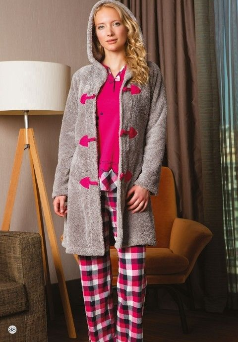 Bone Club 4224 Velsoft Bayan 3'lü Pijama Takım