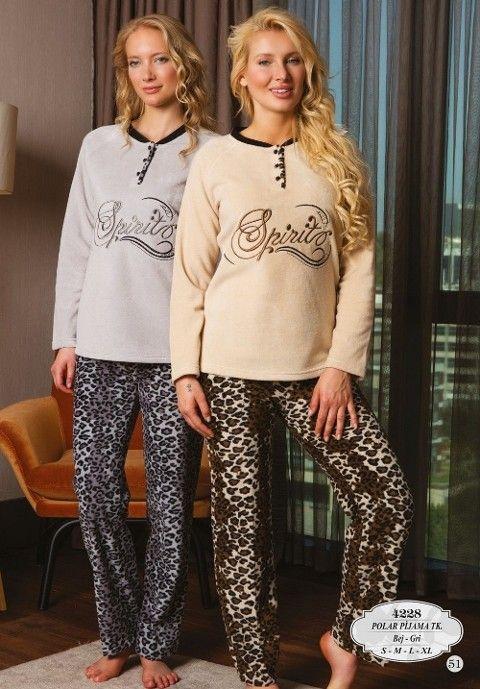 Bone Club 4228 Polar Patlı Pijama Takımı