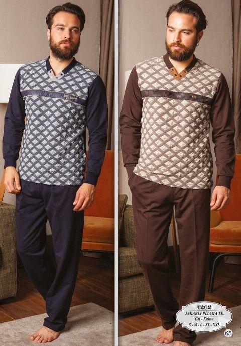 Bone Club 4262 Verev Ekose Jakarlı Erkek Pijama Takımı
