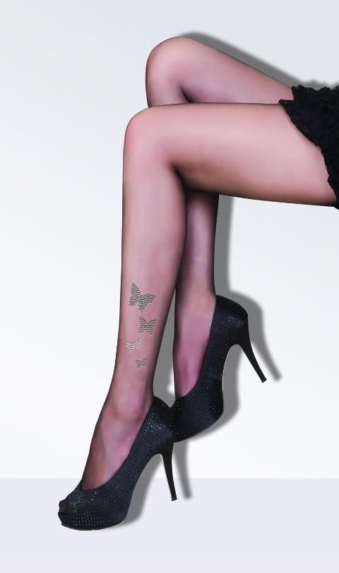 Daymod Butterfly Taşlı Desenli Külotlu Çorap