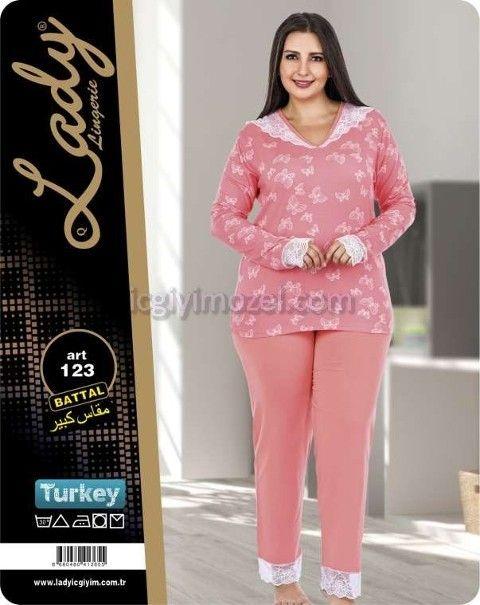 Büyük Beden Bayan Pijama Takım Lady 123