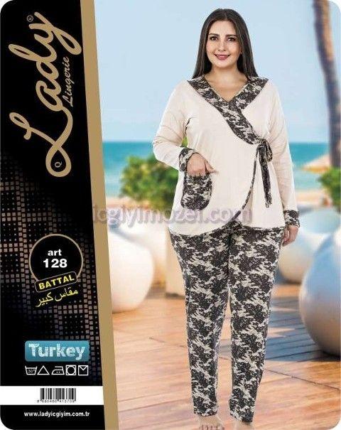Büyük Beden Bayan Pijama Takım Lady 128