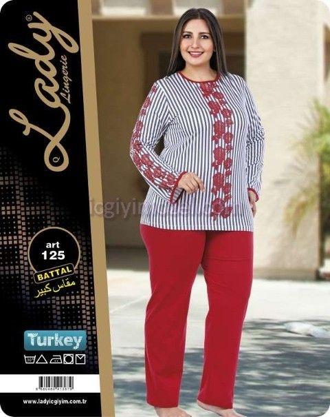 Büyük Beden Kadın Pijama Takım Lady 125