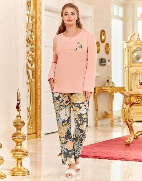 Büyük Beden Pijama Takım Bayan Dowry B09-07