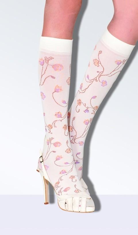 Daymod Caroline Micro Fibre Desenli Dizaltı Çorap