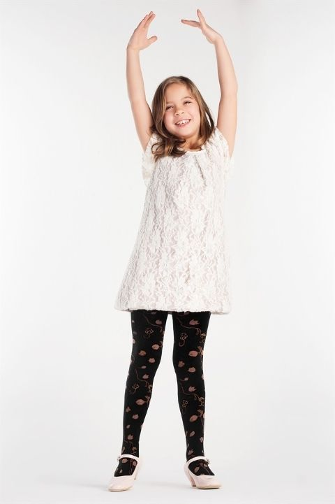 Daymod Caroline Mycro Desenli Külotlu Çocuk Çorabı