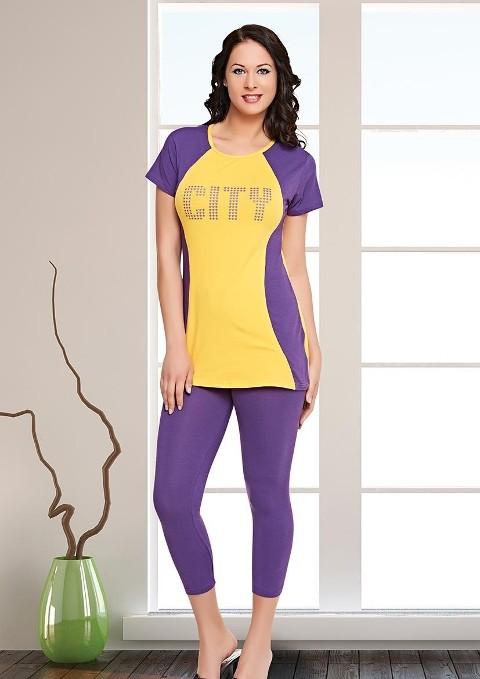 Tayt Pijama Takımları CİTY Tayt Pijama Takımı Dünya Yıldızı 5505