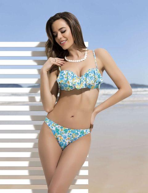 Bikini Çiçek Motifli Bayan Bikini NBB 50812