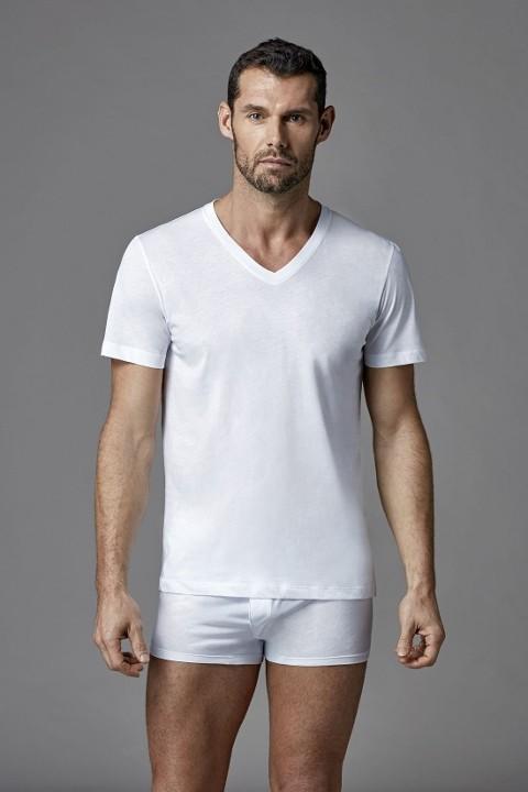 Cotton V Yaka T-Shirt Dagi D1530