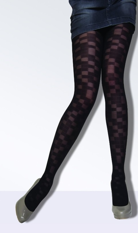 Daymod Dama Desenli Külotlu Çorap
