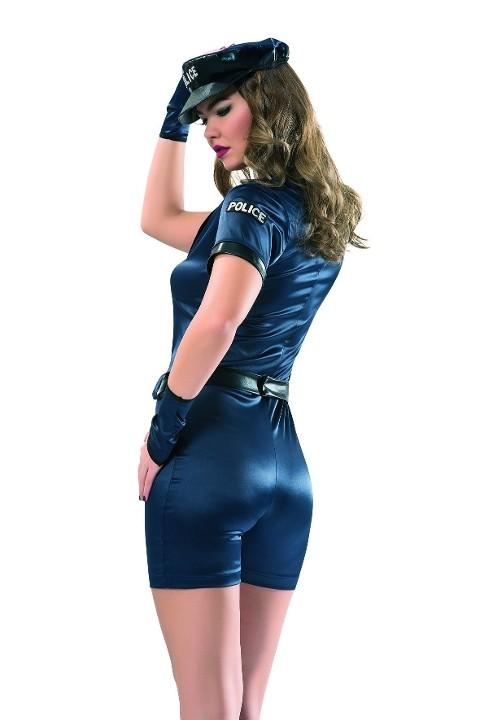 Polis & Asker Kostümleri Denizgülü Şortlu Polis Kostümü 6110