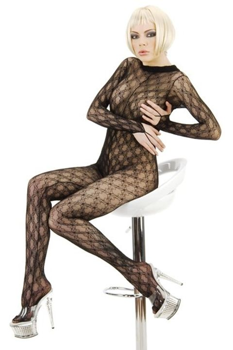 La Blinque Desenli Vücut Çorabı 959