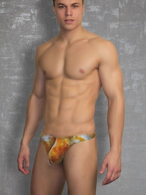 Doreanse Fantazi Renkli Likralı Seksi Erkek String 1346