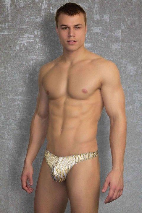 Doreanse Gold Desen Seksi Erkek String 1348