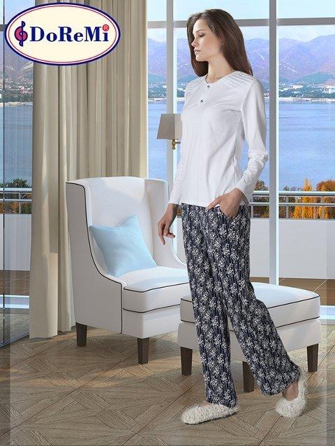DoReMi White-Black Bayan Pijama Takımı