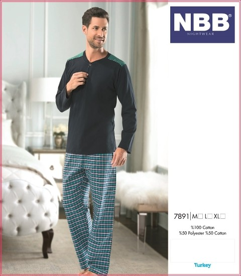 Ekose Erkek Pijama NBB 7891