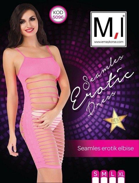 Emay 5096 Dikişsiz Seksi Elbise
