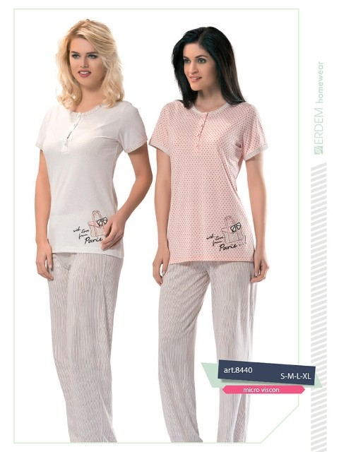 Erdem 8440 Bayan Pijama Micro Viskon