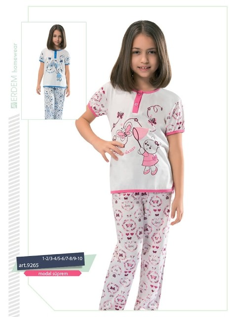 Erdem 9265 Kız Çocuk Pijama Modal Süprem