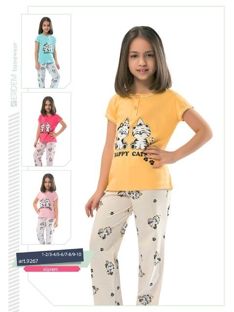 Erdem 9267 Kız Çocuk Pijama Süprem
