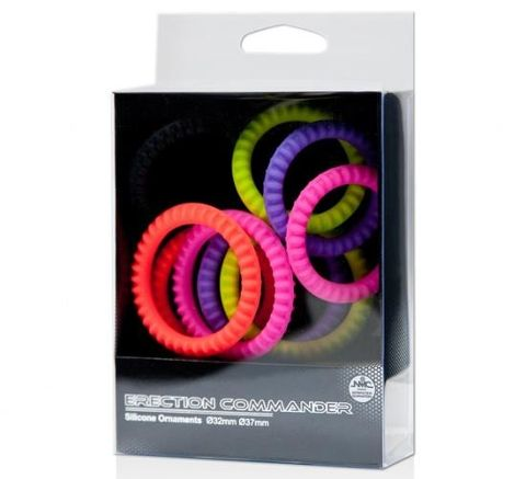 Erection Commander Renkli Penis Halka Seti