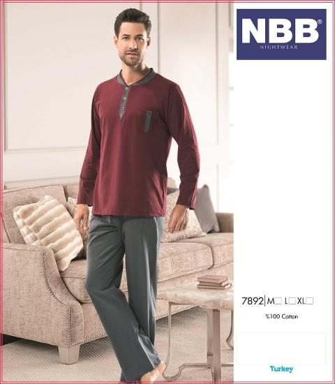Erkek Ceplı Yaka Patlı Pijama NBB 7892