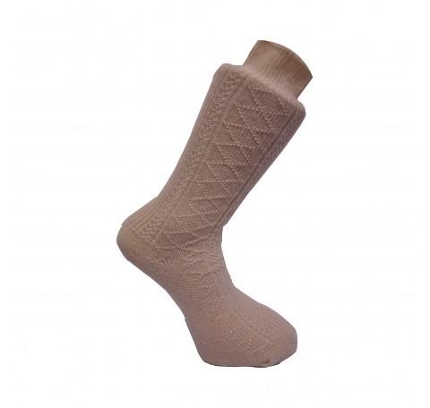 Erkek Ekru Kalın Çorap