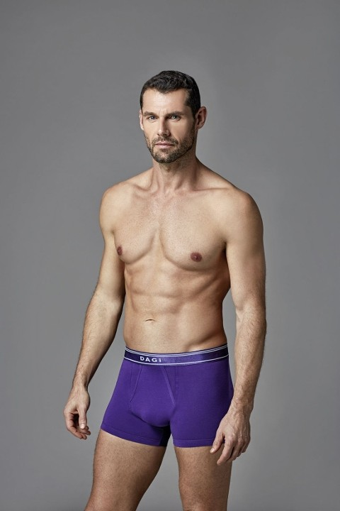 Erkek Likralı Renkli Boxer Dagi 5217