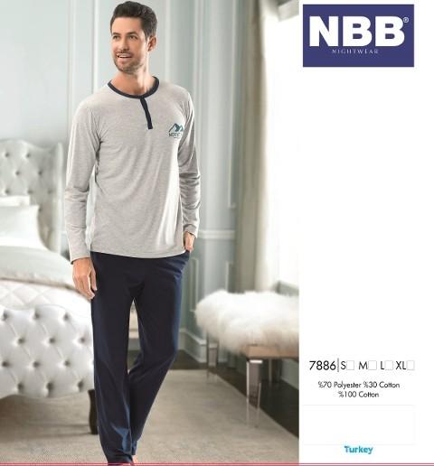 Erkek Patlı T-Shirt Pijama NBB 7886